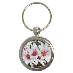 Bloom Cactus  Key Chain (round)
