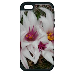 Bloom Cactus  Apple Iphone 5 Hardshell Case (pc+silicone) by ADIStyle