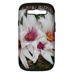 Bloom Cactus  Samsung Galaxy S III Hardshell Case (PC+Silicone) by ADIStyle