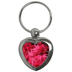 Red Autumn Key Chain (heart) by ADIStyle