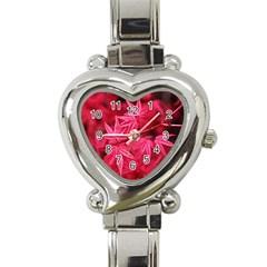 Red Autumn Heart Italian Charm Watch  by ADIStyle