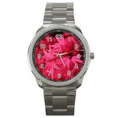 Red Autumn Sport Metal Watch by ADIStyle