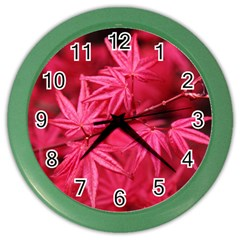 Red Autumn Wall Clock (color) by ADIStyle