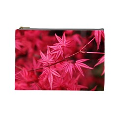 Red Autumn Cosmetic Bag (large)