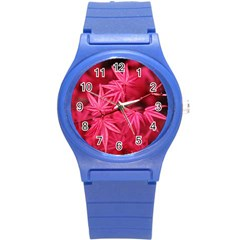 Red Autumn Plastic Sport Watch (small) by ADIStyle
