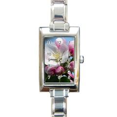 Apple Blossom  Rectangular Italian Charm Watch by ADIStyle