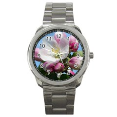 Apple Blossom  Sport Metal Watch by ADIStyle