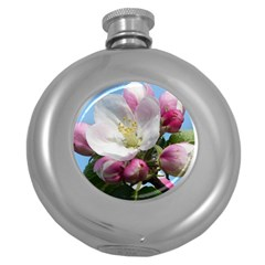 Apple Blossom  Hip Flask (round) by ADIStyle