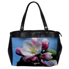 Apple Blossom  Oversize Office Handbag (one Side) by ADIStyle