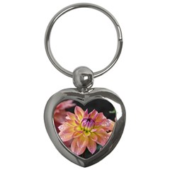 Dahlia Garden  Key Chain (heart)