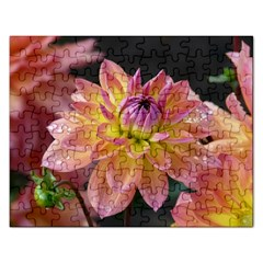 Dahlia Garden  Jigsaw Puzzle (rectangle) by ADIStyle