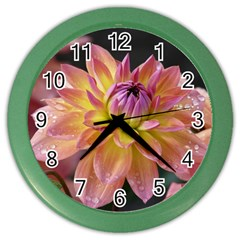 Dahlia Garden  Wall Clock (color) by ADIStyle
