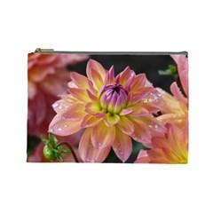 Dahlia Garden  Cosmetic Bag (large) by ADIStyle
