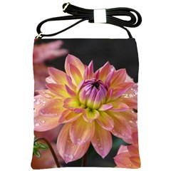 Dahlia Garden  Shoulder Sling Bag by ADIStyle