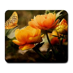 Flowers Butterfly Large Mouse Pad (rectangle)