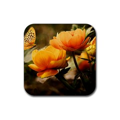 Flowers Butterfly Drink Coasters 4 Pack (square) by ADIStyle