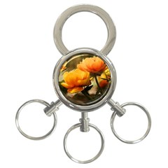 Flowers Butterfly 3 Ring Key Chain by ADIStyle