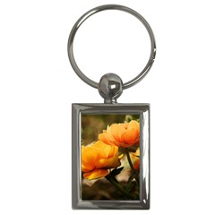 Flowers Butterfly Key Chain (rectangle) by ADIStyle