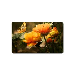 Flowers Butterfly Magnet (name Card) by ADIStyle