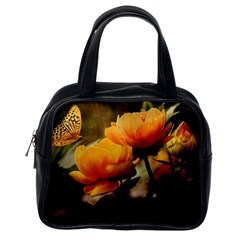 Flowers Butterfly Classic Handbag (one Side) by ADIStyle
