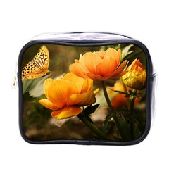 Flowers Butterfly Mini Travel Toiletry Bag (one Side) by ADIStyle