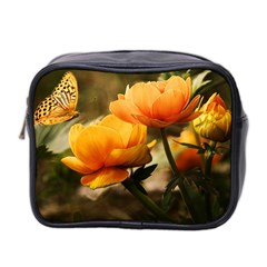 Flowers Butterfly Mini Travel Toiletry Bag (two Sides) by ADIStyle