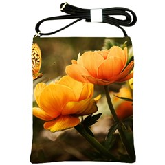 Flowers Butterfly Shoulder Sling Bag by ADIStyle