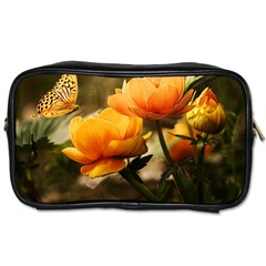 Flowers Butterfly Travel Toiletry Bag (one Side) by ADIStyle
