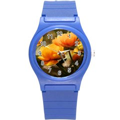 Flowers Butterfly Plastic Sport Watch (small) by ADIStyle