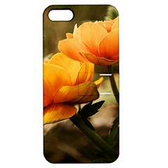 Flowers Butterfly Apple Iphone 5 Hardshell Case With Stand by ADIStyle