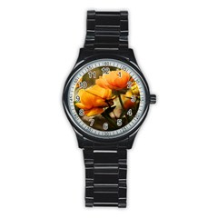 Flowers Butterfly Sport Metal Watch (black) by ADIStyle