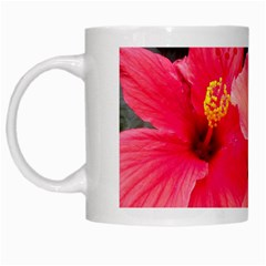Red Hibiscus White Coffee Mug by ADIStyle