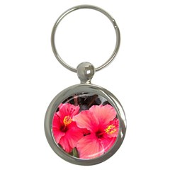 Red Hibiscus Key Chain (round) by ADIStyle
