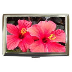 Red Hibiscus Cigarette Money Case by ADIStyle