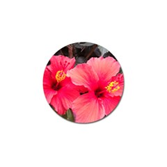 Red Hibiscus Golf Ball Marker by ADIStyle