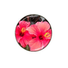 Red Hibiscus Golf Ball Marker 4 Pack (for Hat Clip) by ADIStyle