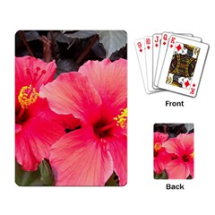 Red Hibiscus Playing Cards Single Design by ADIStyle