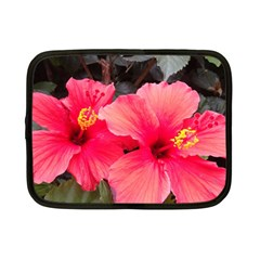 Red Hibiscus Netbook Case (small) by ADIStyle