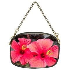 Red Hibiscus Chain Purse (one Side) by ADIStyle