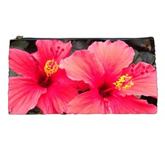 Red Hibiscus Pencil Case by ADIStyle