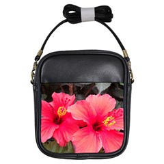 Red Hibiscus Girl s Sling Bag by ADIStyle