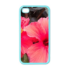 Red Hibiscus Apple Iphone 4 Case (color) by ADIStyle