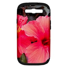 Red Hibiscus Samsung Galaxy S Iii Hardshell Case (pc+silicone) by ADIStyle