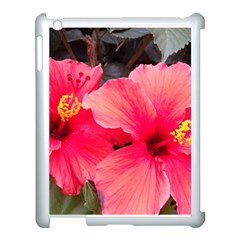 Red Hibiscus Apple Ipad 3/4 Case (white) by ADIStyle