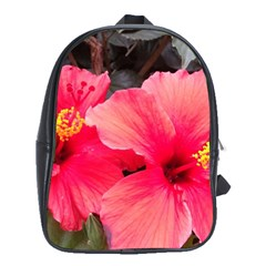 Red Hibiscus School Bag (xl) by ADIStyle