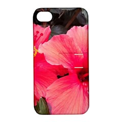 Red Hibiscus Apple Iphone 4/4s Hardshell Case With Stand