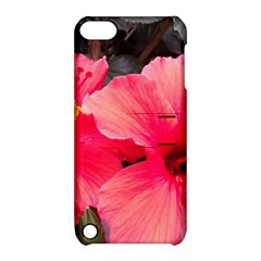 Red Hibiscus Apple Ipod Touch 5 Hardshell Case With Stand by ADIStyle