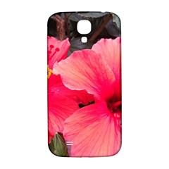 Red Hibiscus Samsung Galaxy S4 Hardshell Back Case by ADIStyle