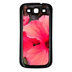 Red Hibiscus Samsung Galaxy S3 Back Case (black) by ADIStyle