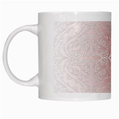 Elegant Damask White Coffee Mug by ADIStyle